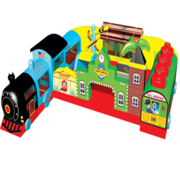 Toddler Train Station Interactive Inflatable